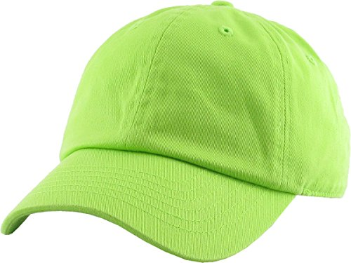 Funky Junque H-100kids-27 Kids Baseball Cap Unisex Low Profile Hat - Lime -