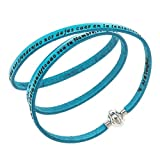 Holyart Amen Bracelet in turquoise leather Our Father SPA, 60 cm (23.64 inc.)