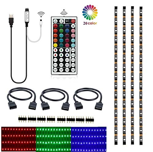 LEHOU TV Backlight, Multi-Color 5050 RGB Flexible LED Strip