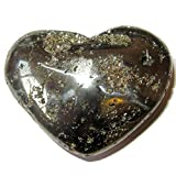 Pyrite Heart 56 Big Crystal Cluster Stone Polished Raw Negativity Shield Rock 2.7'' …