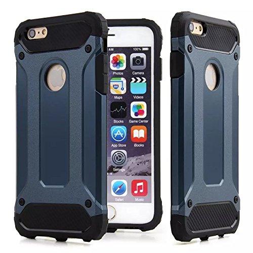 Rüstung Stoßfest Hülle/Case für Apple iPhone 5 / 5s / SE / Absorberabdeckung & Displayschutzfolie / EJC Avenue / Dunkelblau