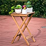 AIDELAI Simple Solid Wood Flower Racks Living Room Balcony Folding Tables Coffee Table Outdoor Small Table Patio Garden Pergolas ( Color : #1 )