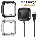CAVN Compatible Fitbit Versa Case Charger [2 +1 Pack], TPU...