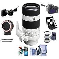 Sony 70-200mm f/4.0 G OSS E-Mount NEX Camera Lens - Bundle with 72mm Filter Kit, FocusShifter DSLR Follow Focus, Datacolor SpyderLensCal Autofocus Calibration Aid,And More