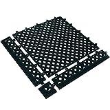Partners Brand PMAT320BK Lok-Tyle Drainage Mats, Tile, 12'' x 12'', Black