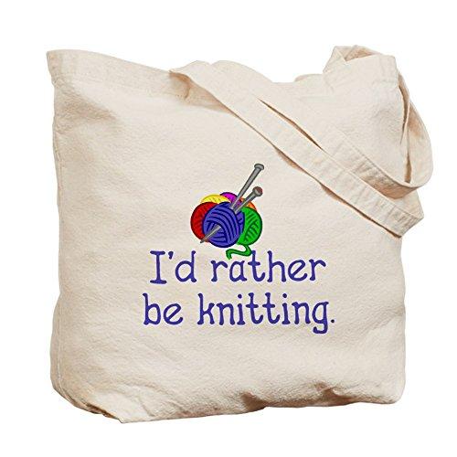 CafePress–I' D RATHER BE maglia. Borsa di tela, colore naturale, panno borsa per la spesa
