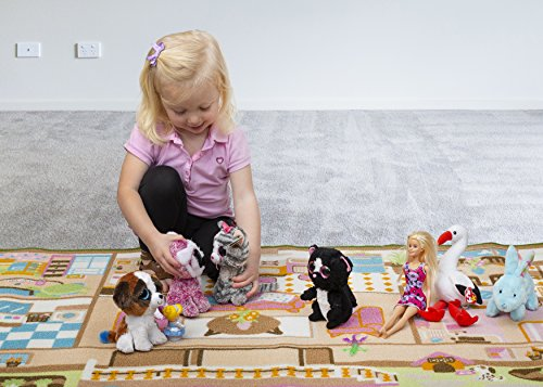 Kids Carpet Playmat Rug Play Time! Fun House Great For Playing With Dolls Mini People Figures Cars, Toys - Learn Educational Play Safe & Have Fun - Children Play Mat,Play Game Area Includes 3D Rooms! by Nessie Playground (Image #6)