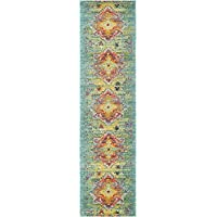 Unique Loom Arte Collection Turquoise 3 x 10 Runner Area Rug (2 7 x 10)