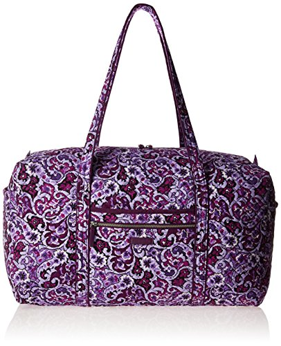 Vera Bradley Women's Iconic Large Travel Duffel-Signature, Lilac Paisley, One - Cotton Duffle