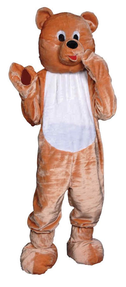 UHC Teddy Bear Mascot Jumpsuit Funny Comical Theme Halloween Child Costume, L (12-14)