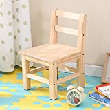 Btibpse Wooden Small Chair for Kids Solid Hard Wood Mini Stool (Chair)