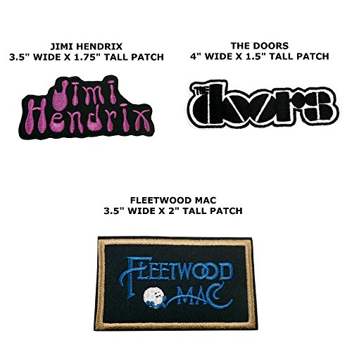 Application Music Rock Band Logo Theme Assorted 3 Piece DIY Embroidered Iron/Sew-on Applique Motif Patches By Superheroes Brand (Diy Movie Inspired Halloween Costumes)