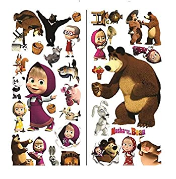 Buy Masha And The Bear Wall Murals Stickers Art Decals Kids