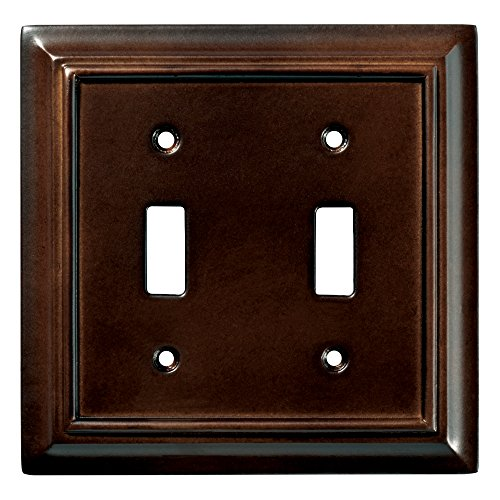 Brainerd 126343 Wood Architectural Double Toggle Switch Wall Plate / Switch Plate / Cover, Espresso by Brainerd (Image #1)
