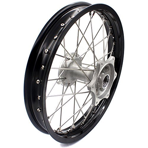 KKE HONDA MX COMPLETE CASTING WHEELS RIMS SET 21/19 CR125R CR250R 96-99 CR500R 96-01 by KKE (Image #2)
