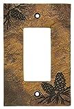 Big Sky Carvers 30170449 Pinecone Decorative Switch Plate
