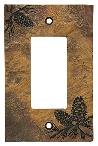 (Big Sky Carvers 30170449 Pinecone Decorative Switch Plate)