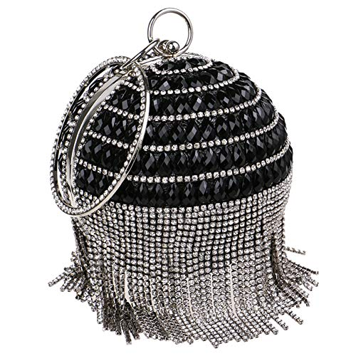 Handbags Bags Womens Dress Chain Clutches For Wedding Purse Black Evening Fringe ZqwpROp4
