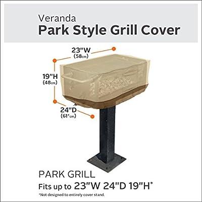 Classic Accessories Veranda Park Style Charcoal Grill Cover