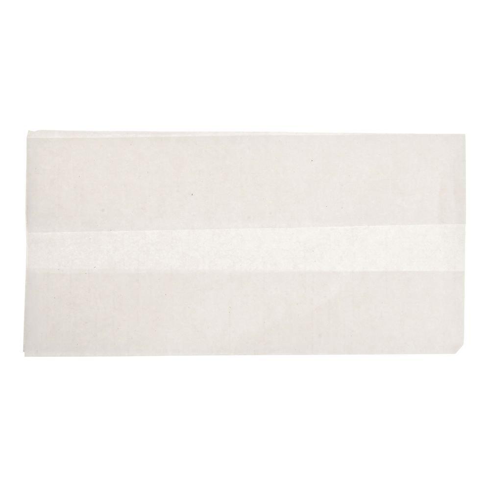 White Tall Fold Napkins - 3 1/2''W x 7 11/16''H by BUNZL (Image #1)