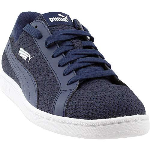 Puma Mens Smash Knit Fashion Sneakers (9, Navy)