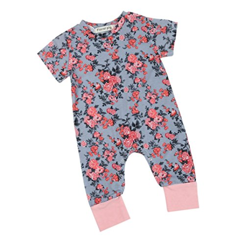 Baby Girl Clothes,Efaster Newborn Girl Floral Print Soft Rom