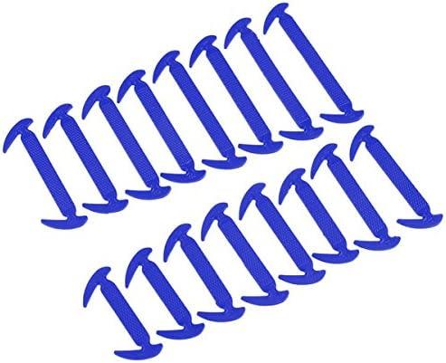 結ばない靴ひも かぎづめ型 通常サイズ 男性用スニーカーなどに! ブルー AP-TH557-BL 入数:1セット(16本)