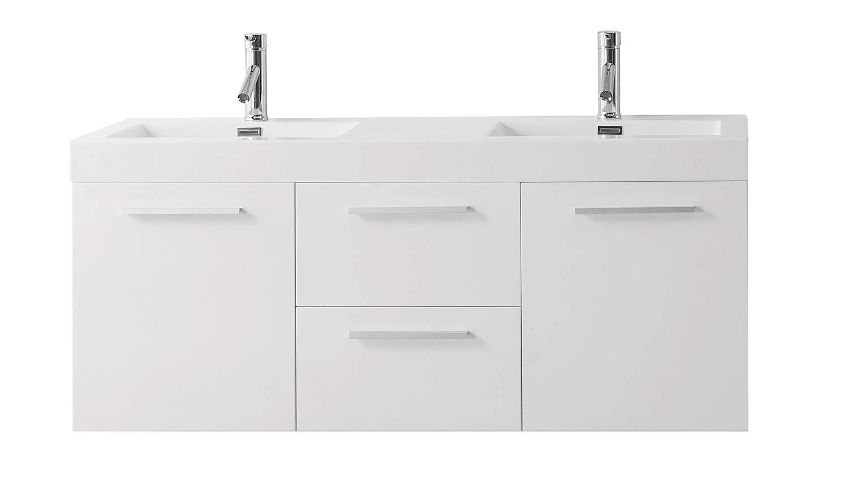 Virtu Usa Midori 54 Inch Double Sink Bathroom Vanity Set In Gloss