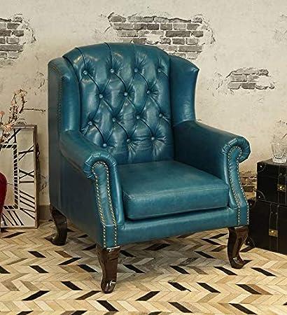 Swell Furniture Street Modern Blue Wing Chair For Living Room Wing Short Links Chair Design For Home Short Linksinfo