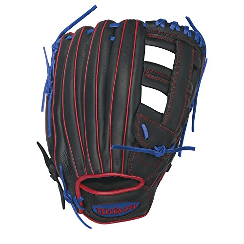 Wilson Showtime Slowpitch Softball Glove 13 inch , Black -
