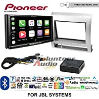 Volunteer Audio Pioneer AVH-W4400NEX Double Din Radio Install Kit with Wireless Apple CarPlay, Android Auto, Bluetooth Fits 2005-2011 Toyota Tacoma with Amplified System (Light Silver)