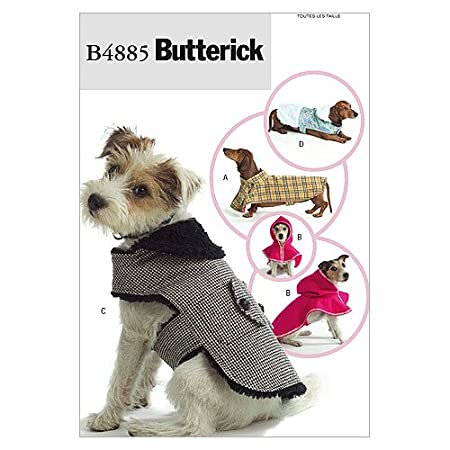 Butterick Patterns B4885 Dog Coats, All Sizes