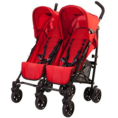 guzzie+Guss Twice Double Umbrella Stroller, Red ()