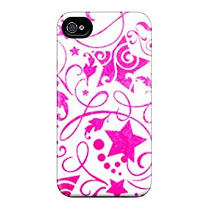 Excellent Design Pink Stars Case Cover For Iphone 4/4s