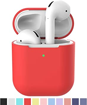 Amazon Com Lerual Apple Airpods 2nd Gen Case 2019 Soft Silicone Cover Supports Wireless Charging For Shockproof