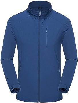 メンズジャケット、メンズアウトドア防水ジャケット、軽量の防風・防雨キャンプハイキングサイクリング ジッパージャケット