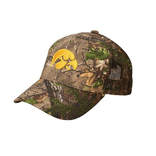 NCAA Iowa Hawkeyes Dynasty Adjustable Hat, Adjustable, Realtree AP (Iowa Camo Hawkeyes)