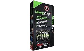 BlisterZone MedZone Skin Protectant – Foot Blister Gel – Anti-Chafe Foot Blister Protectant - 1/8 oz (3.5gm) 5 Count Box
