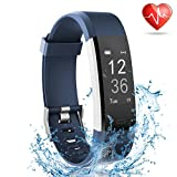 Fitness Tracker with Heart Rate Monitor - Lattie Smart Watch Activity Tracker Pedometer Sports Bracelet with Sleep Monitor Step Calorie Counter Wristband for Android and iOS Smartphone (Blue)