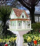 "14.5"" Fully Functional Enchanted Fairytale Cottage Outdoor Garden Birdhouse"