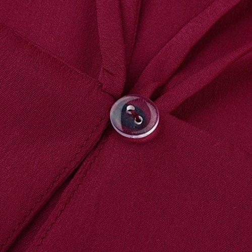 dos rose main Bordeaux femme Sac porté Women Rose pour M au Blouse Taille DIKEWANG à wIqPCx0IZ