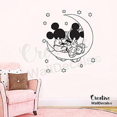 CreativeWallDecals Vinyl Wall Decal Sticker Mickey Minnie Mouse Kids Nursery Disney Stars r1871: Home & Kitchen