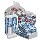 Pitt Plastics 40x46 Clear Perforated Coreless Roll Can Liner - 100 per case.