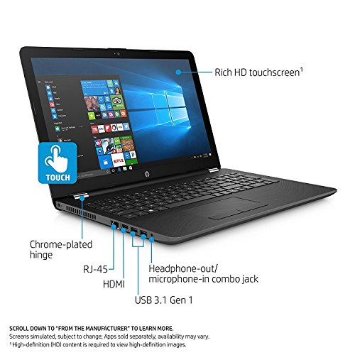"Premium High Performance HP 15.6"" HD Touchscreen Laptop PC Computer, AMD A9 Processor (3.0-3.6 GHz), 8GB DDR4 Memory, 2TB SATA HDD, DVD-Writer, 802.11AC Wi-Fi, Bluetooth, Webcam, USB, Windows 10 ()"
