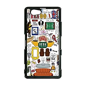 Special Doodle Style Comedy TV Series Friends Phone Case Cover for Sony Xperia Z1 Compact / Z1 Mini Friends TV Show Stylish Cover Shell