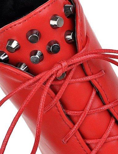 Vestido Mujer De 7 Trabajo Rojo Eu38 Puntiagudos Red Zapatos Uk5 Casual 5 us6 5 Uk4 Red Cn38 Semicuero Oficina Eu37 Uk 5 Botas Cerrada Y negro Cn37 5 5 Xzz us7 Robusto Tacón Punta 7Efqaww5