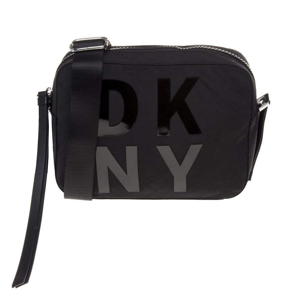 DKNY Logo Camera Mujer Cross Body Bag Negro