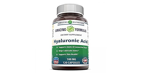 Amazing Formulas Hyaluronic Acid 100 mg 120 Capsules - Support ...