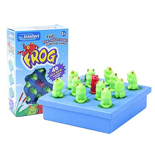 Frog The Peg Solitaire Jumping Board Game Children Intellect Chess Toys Game ()