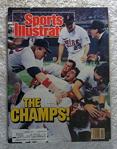 The Minnesota Twins Celebrate - 1987 World Series Champions! - Sports Illustrated - November 2, 1987 - St Louis Cardinals - -